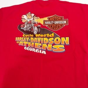 Men's XL Harley Davidson red t-shirt Athens UGA